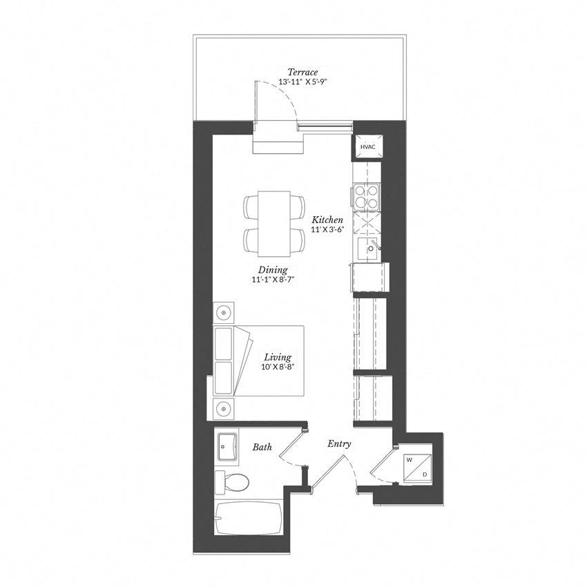 Studio - Plan 0B/XL