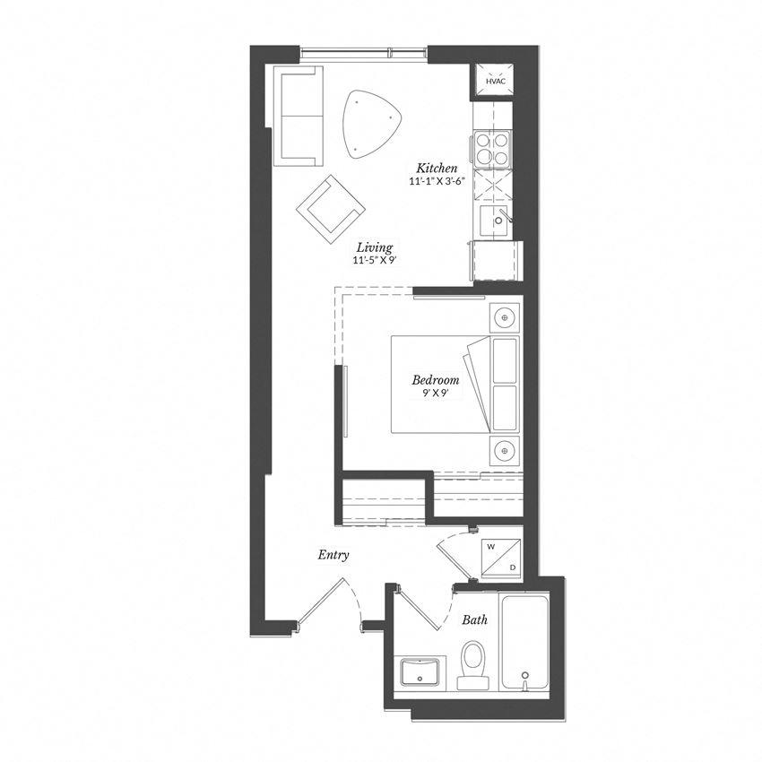 Studio - Plan 0D