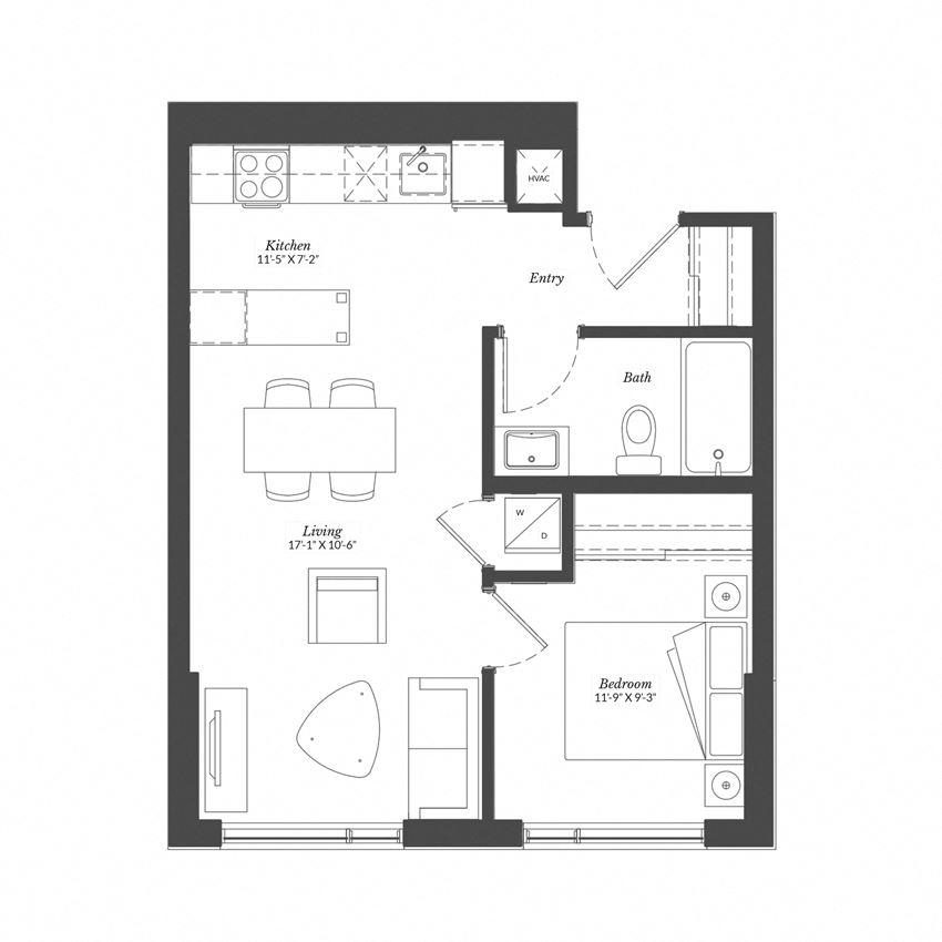 1 Bed - Plan 1L