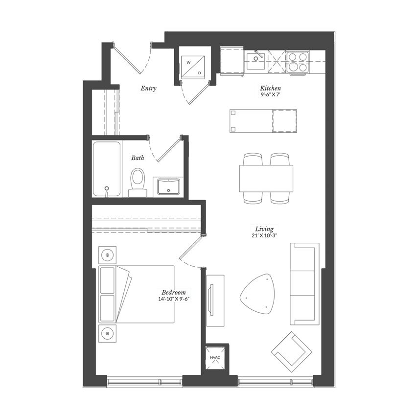 1 Bed - Plan 1A