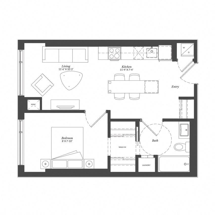 1 Bed - Plan 1B