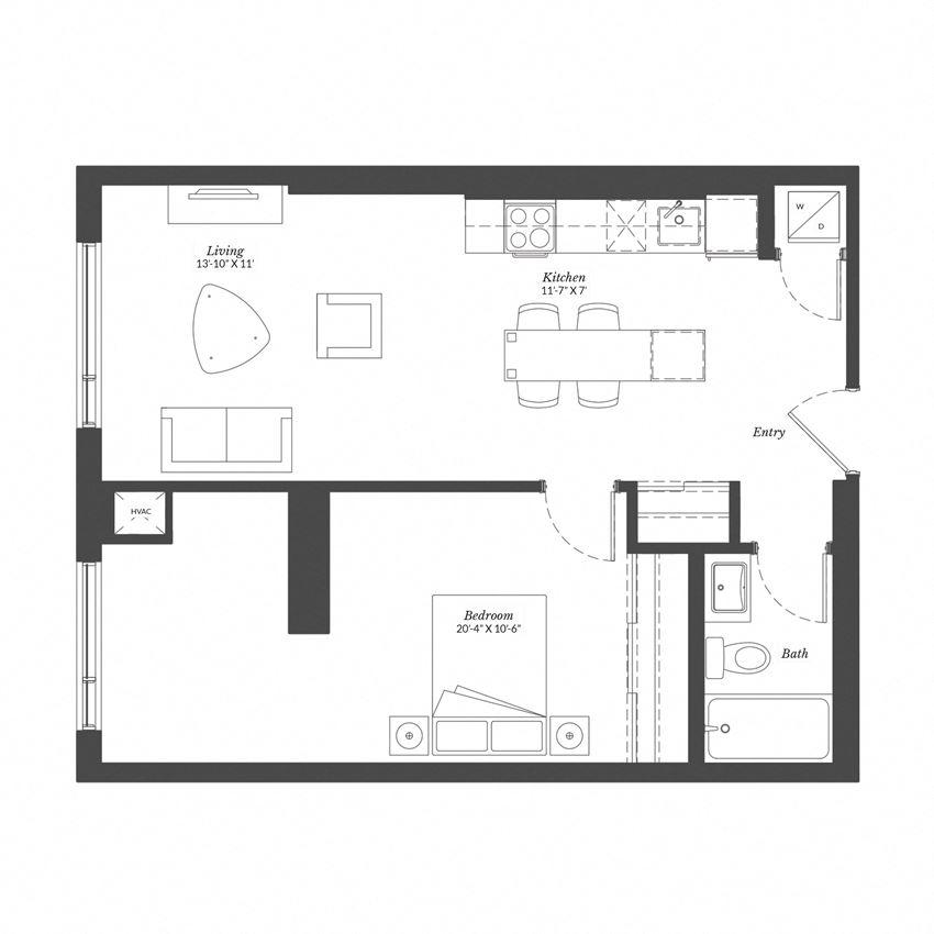 1 Bed - Plan 1C