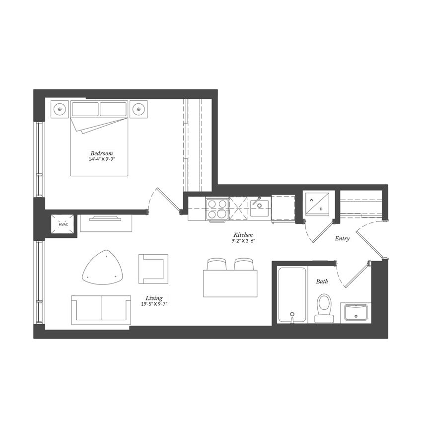 1 Bed - Plan 1D