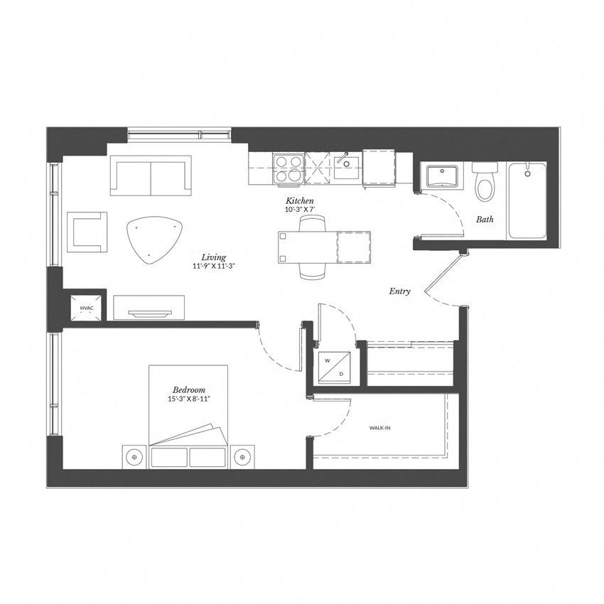 1 Bed - Plan 1E