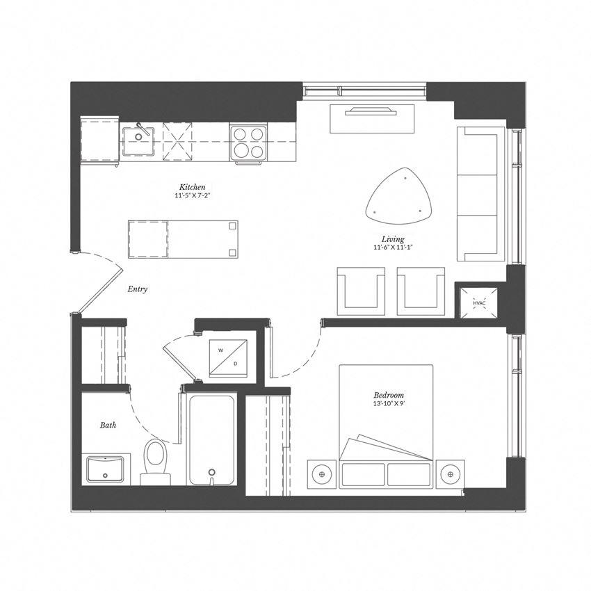 1 Bed - Plan 1F