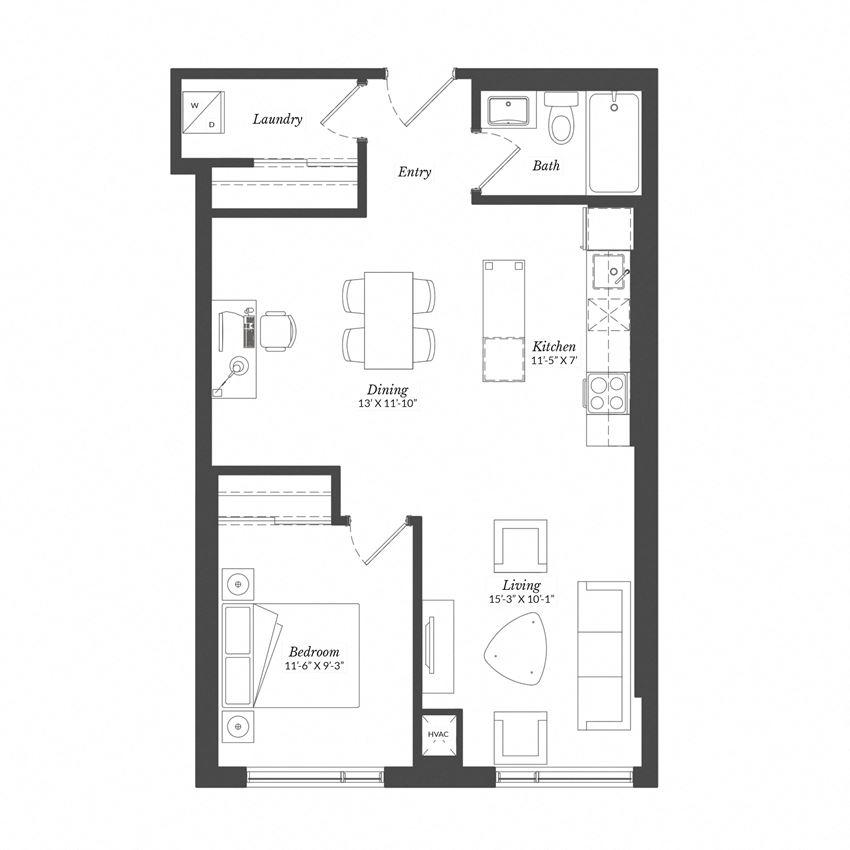 1 Bed - Plan 1G