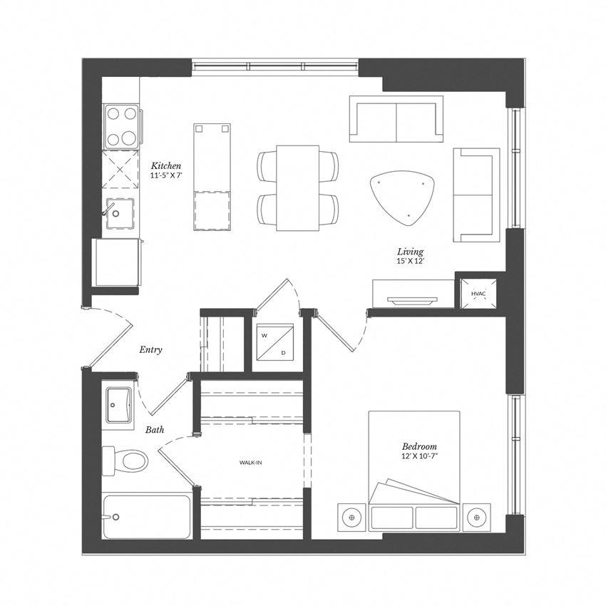 1 Bed - Plan 1N