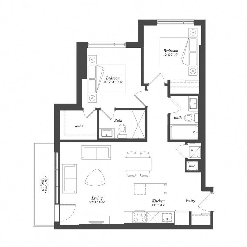 2 Bed - Plan 2B