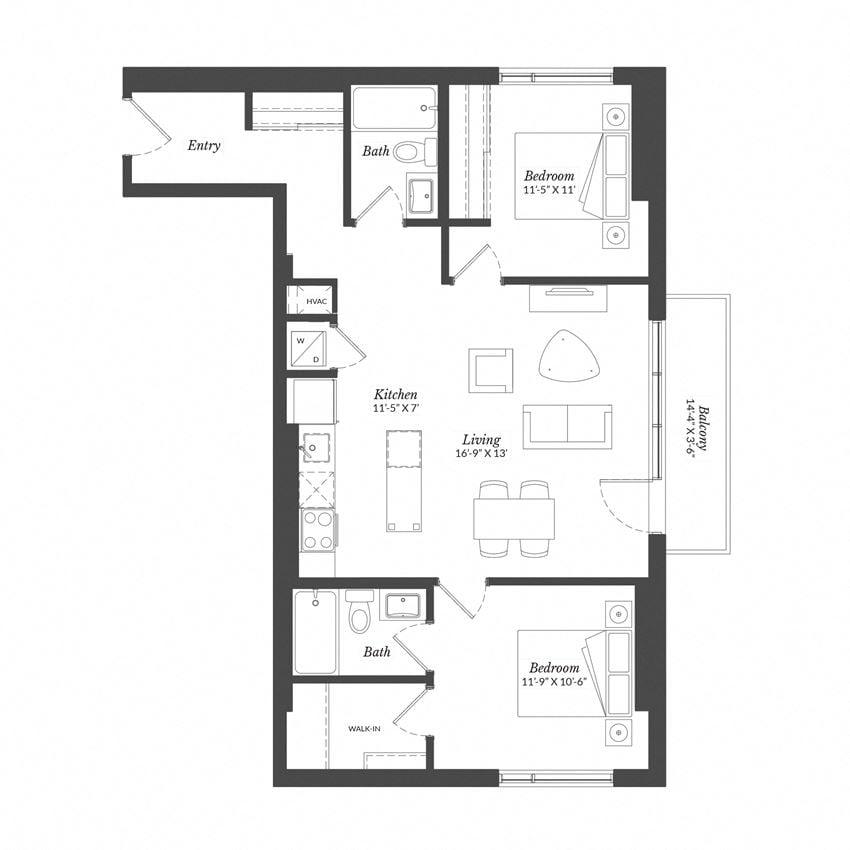 2 Bed - Plan 2C