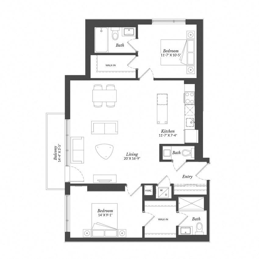 2 Bed - Plan 2G