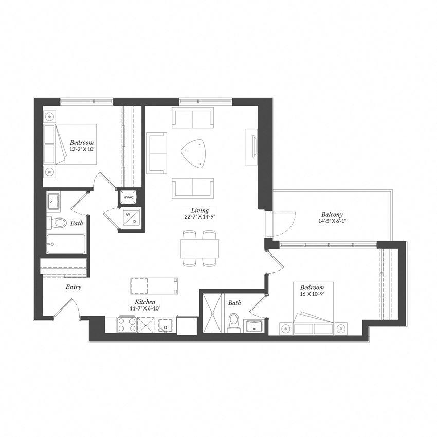 2 Bed - Plan 2H