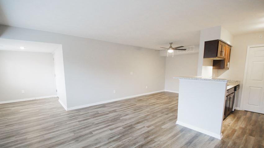Wood Inspired Plank Flooring at Medina Village Apartments - SPM,  Integrity Realty LLC, Medina