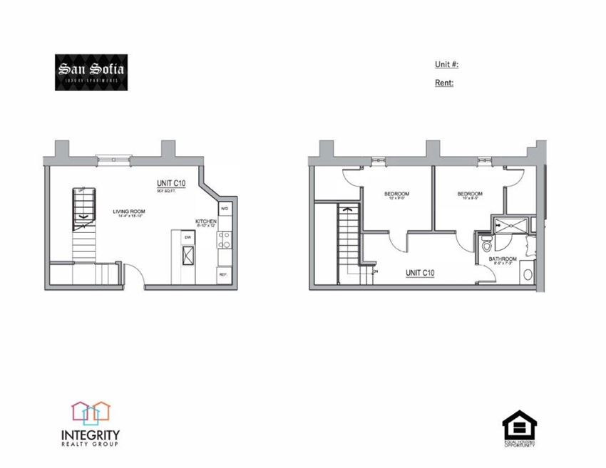 C10 Floor Plan at San Sofia Luxury Apartments , Cleveland, Integrity Realty LLC, OH, 44113