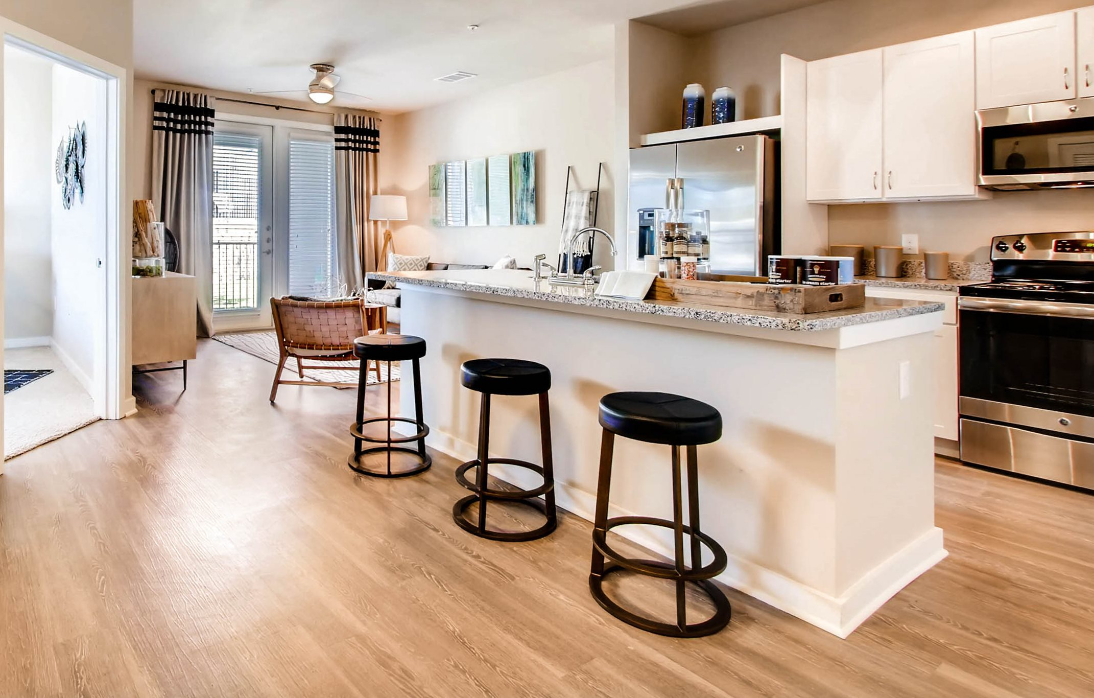 wood-style flooring in apts in kylt tx