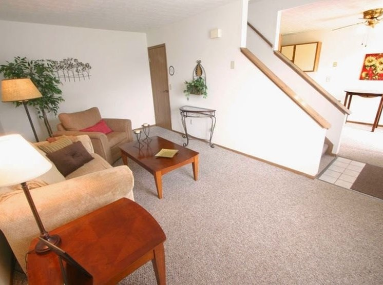 Furnished Living Room at Ashley Village Apartments, Columbus, 43232