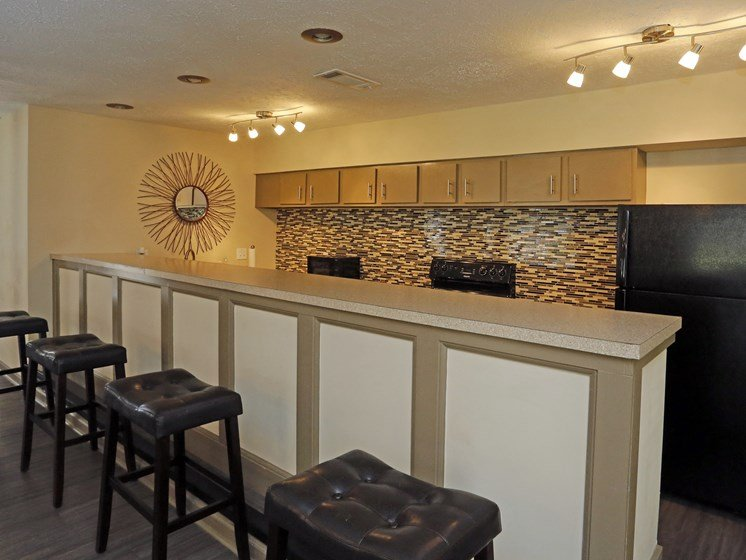 Gourmet Coffee Bar With Refrigerator at Briarwood Park Apartments, Jackson, MS