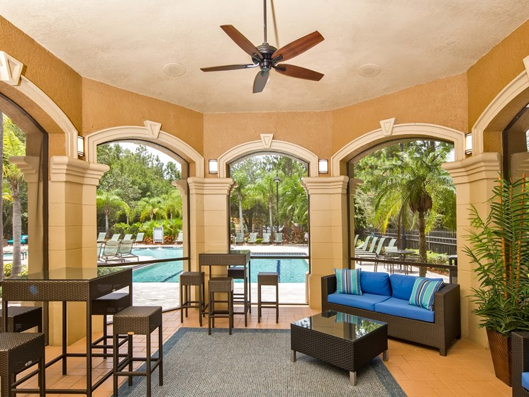 Screened in Outdoor Space Beautiful Clubhouse Grand Reserve Tampa Fl 33647