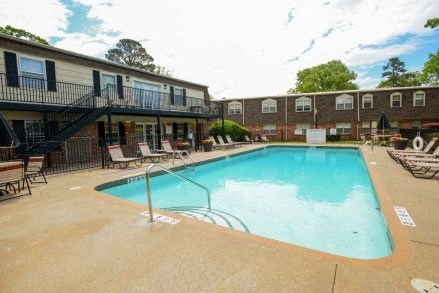 Outdoor Swimming Pool at Colony West Apartments, Arkansas