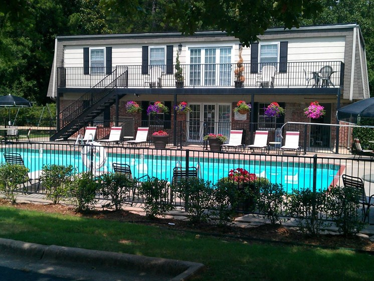 Relaxing Swimming Pool at Colony West Apartments, Little Rock, Arkansas