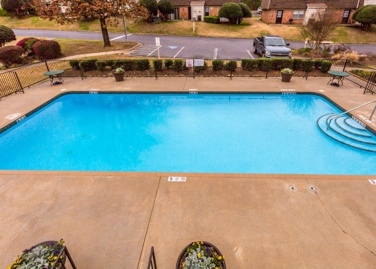 Poolside Relaxing Area at Colony West Apartments, Arkansas, 72227