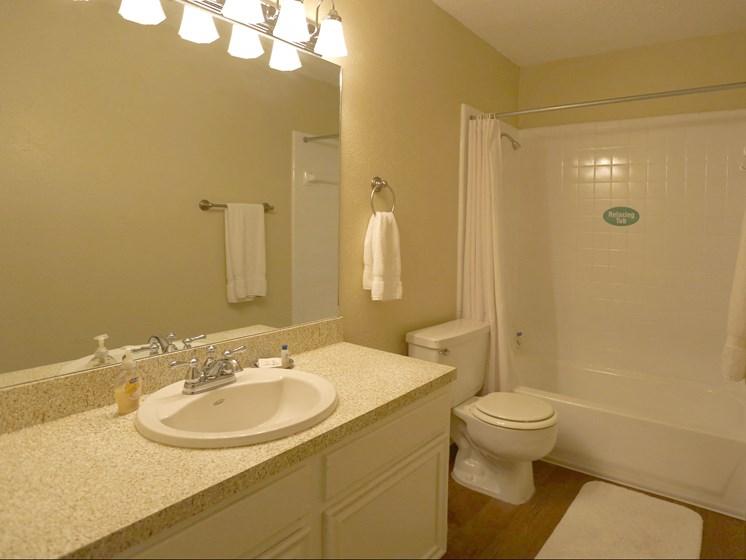 Luxurious Bathroom at Towne Oaks Apartments, Little Rock