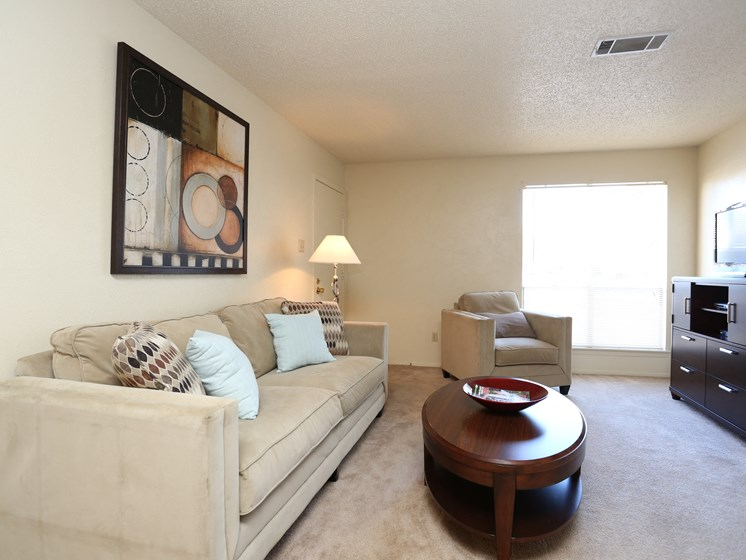 Living Room With Television at Towne Oaks Apartments, Little Rock, AR, 72227