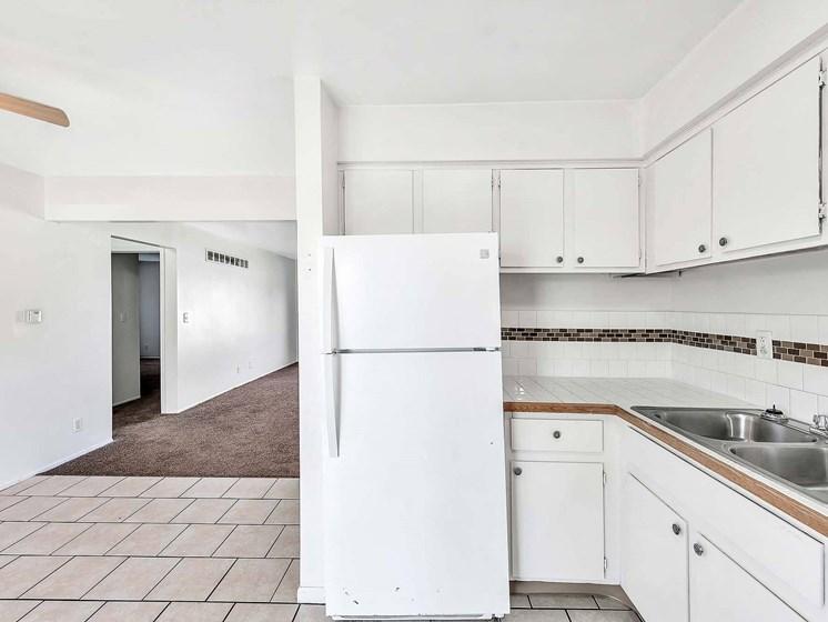 Top Class Refrigerator at Rivershell Apartments, Lansing, MI, 48911