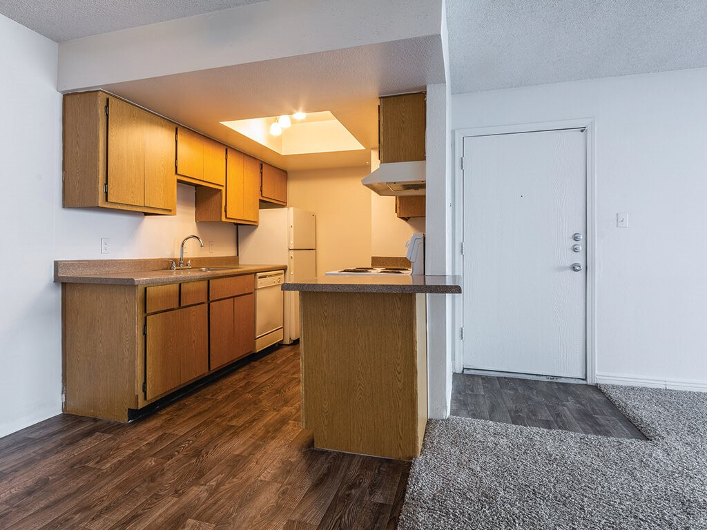 Open kitchen space at Cala Paradise Valley Apartments in Phoenix