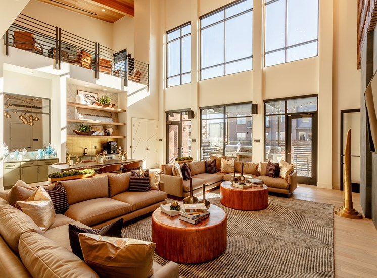 Decorated Living Room With Natural Light at Railway Flats Apartments, Loveland