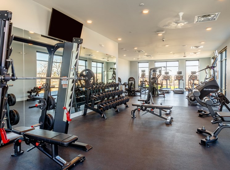 Beautiful Fitness Center at Railway Flats Apartments, Loveland