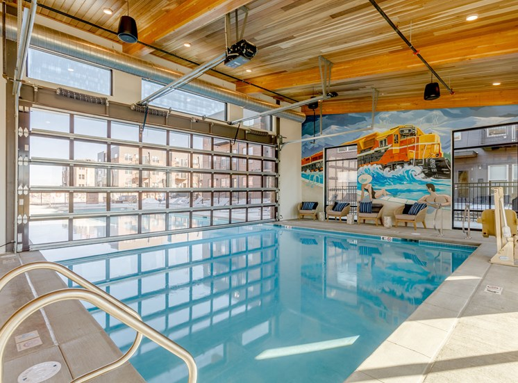 Sparkling Pool at Railway Flats Apartments, Loveland, Colorado