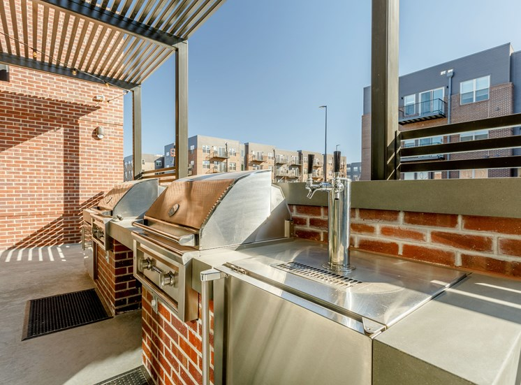 Outdoor BBQ at Railway Flats Apartments, Colorado