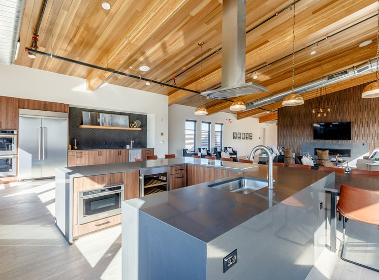 Open Concept Kitchen at Railway Flats Apartments, Loveland, Colorado