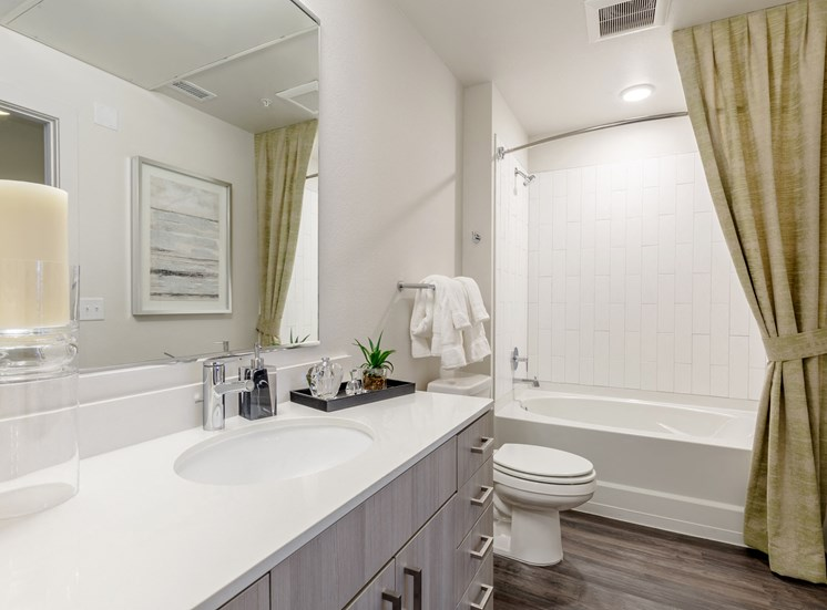 Modern Bathroom Fittings at Railway Flats Apartments, Loveland, Colorado