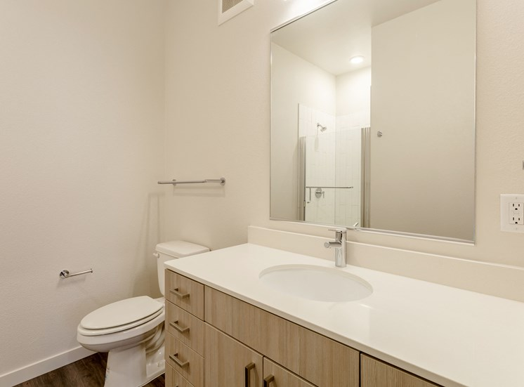 Spacious Bathrooms at Railway Flats Apartments, Loveland, Colorado