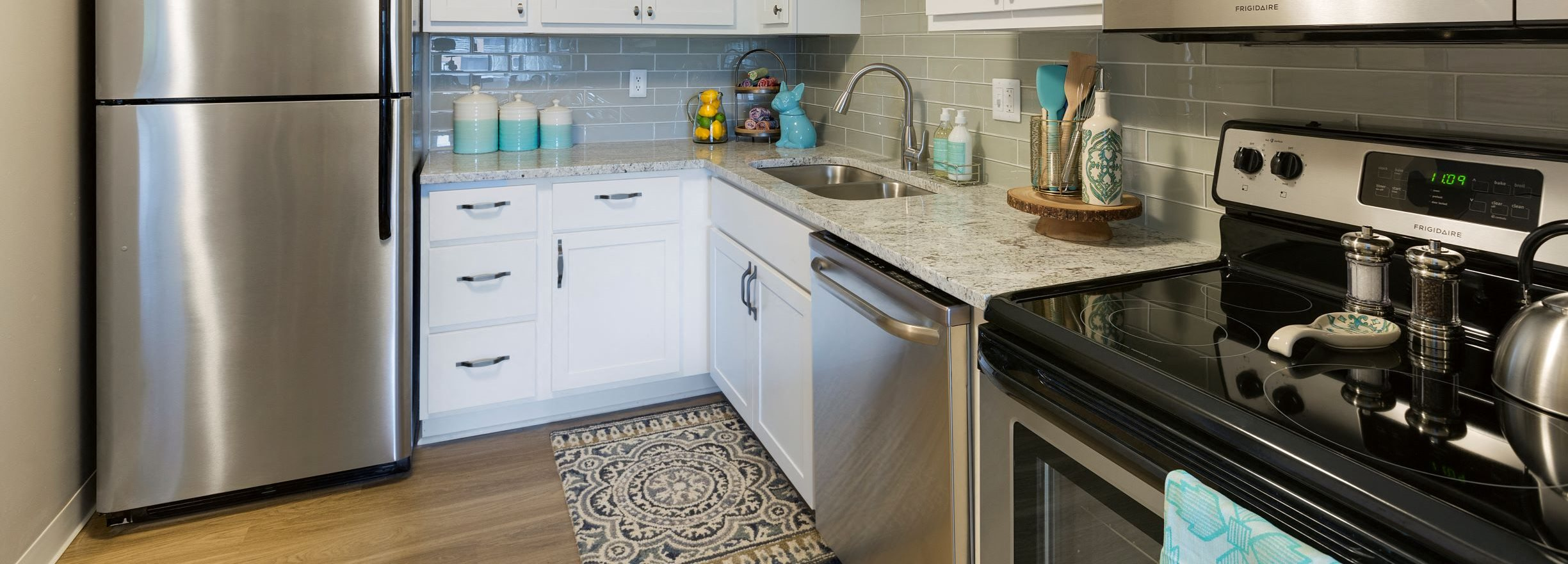 Stainless Steel Appliances In Apartment Kitchens At The Burlington Apartments In St. Paul, MN