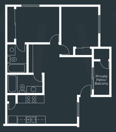 Solano Park Apartments Floor Plan 2 Bed