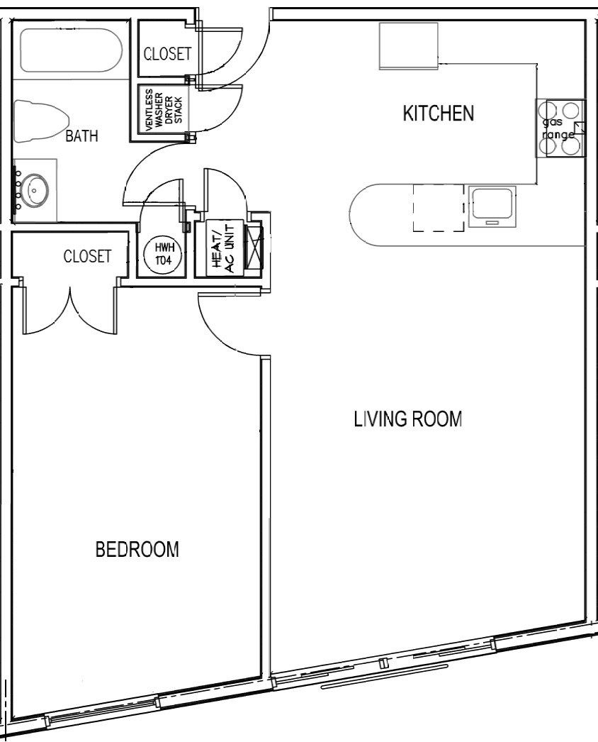 1 Bedroom 1 Bathroom - Small H
