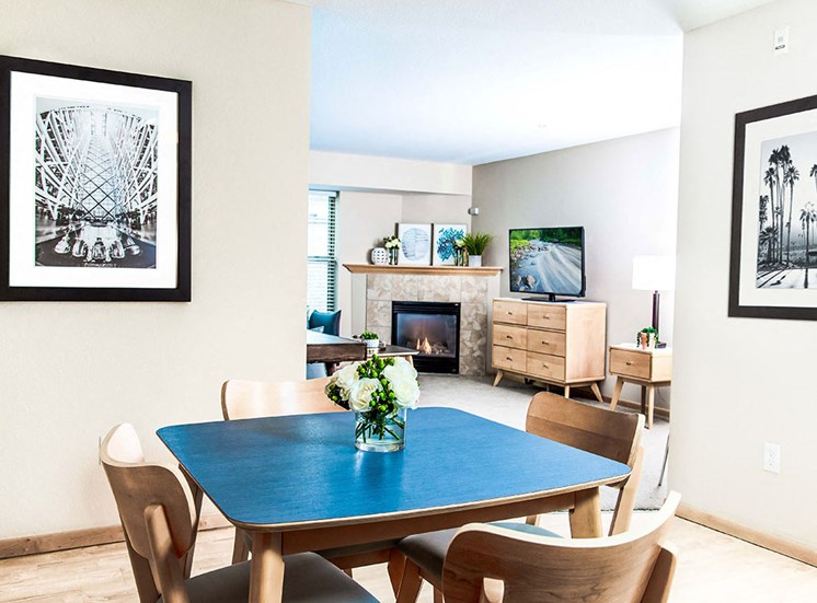 Mill City Apartments - Dining Room & Living Room