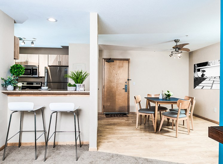Mill City Apartments - Kitchen & Dining Room
