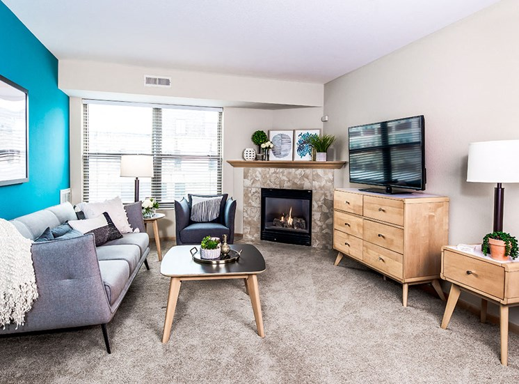 Mill City Apartments - Living Room