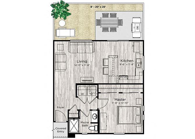 The Alcove Floor Plan at Avilla Centerra Crossings, Goodyear, Arizona