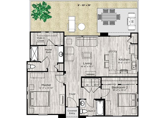 The Retreat Floor Plan at Avilla Centerra Crossings, Goodyear, AZ, 85338