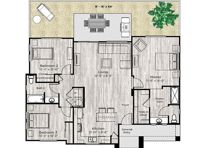 The Haven Floor Plan at Avilla Centerra Crossings, Goodyear