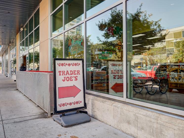 Walking distance retail - Trader Joe's street view
