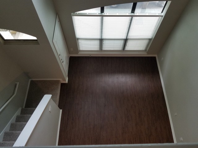 Open view of living room from 2nd floor