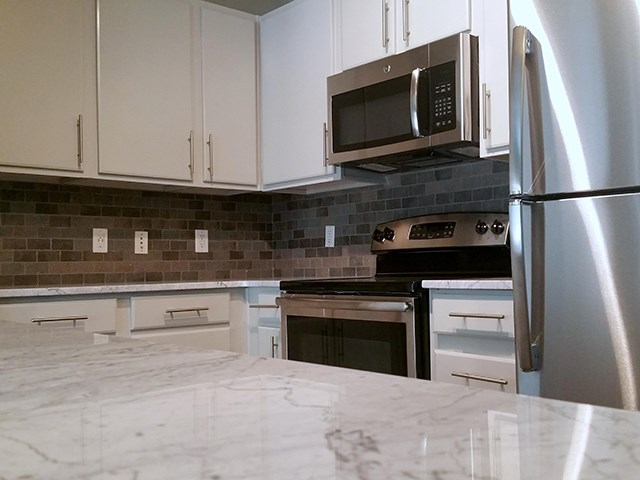 Kitchen with ample cabinet space