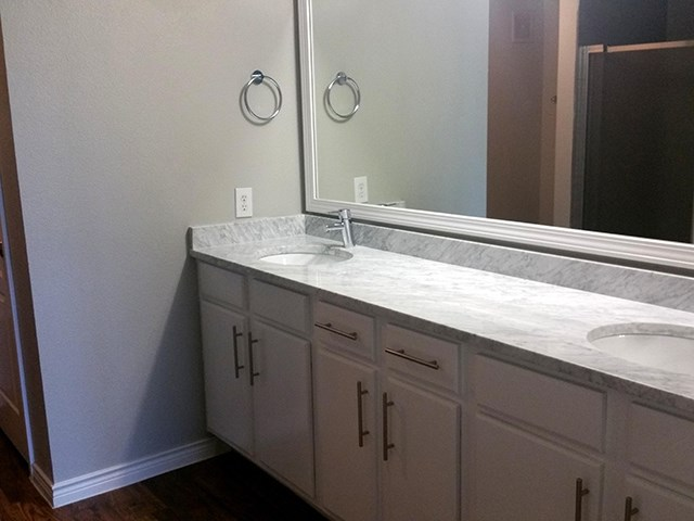 Large bathroom counter space