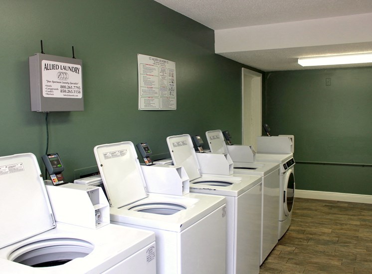 on-site laundry facility with washers and dryers