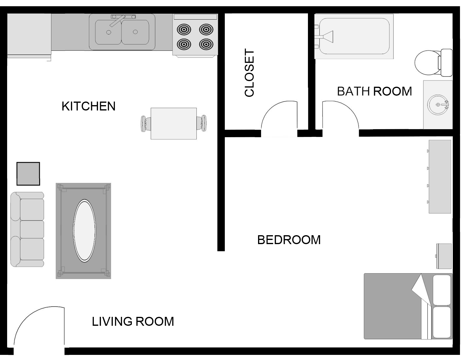 Floor Plans of Tara Garden Apartments in Huntsville, AL